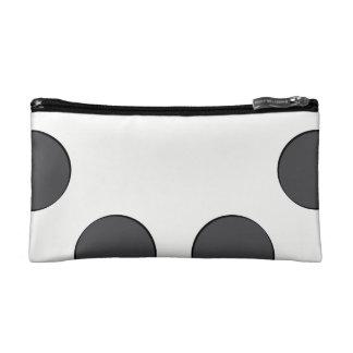 Checkered DarkGrey Dots Makeup Bag
