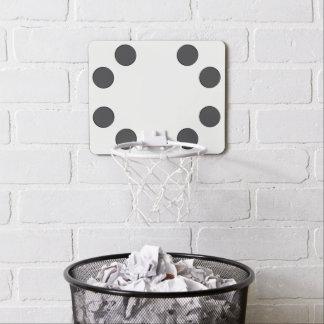Checkered DarkGrey Dots Mini Basketball Hoop