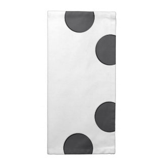 Checkered DarkGrey Dots Napkin