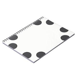 Checkered DarkGrey Dots Notebook