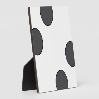 Checkered DarkGrey Dots Plaque