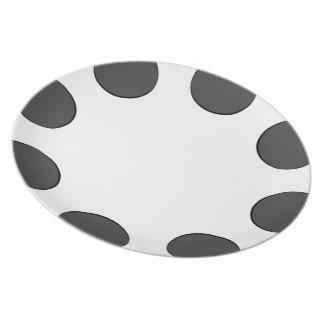 Checkered DarkGrey Dots Plate