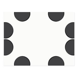 Checkered DarkGrey Dots Postcard