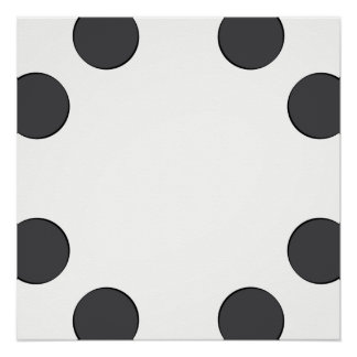 Checkered DarkGrey Dots Poster