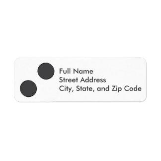 Checkered DarkGrey Dots Return Address Label