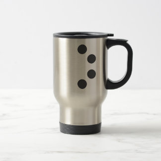 Checkered DarkGrey Dots Travel Mug