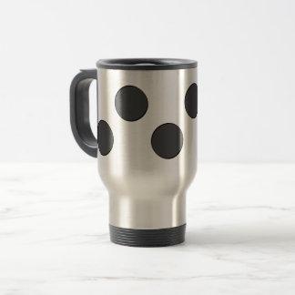 Checkered DarkGrey Dots Travel Mug