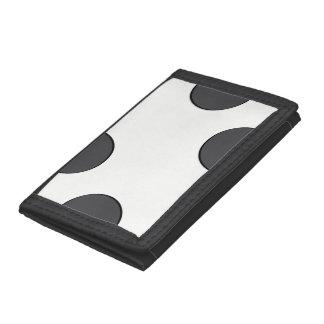 Checkered DarkGrey Dots Tri-fold Wallets