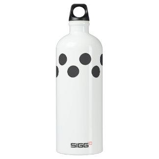 Checkered DarkGrey Dots Water Bottle