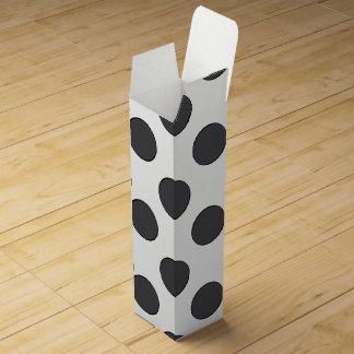 Checkered DarkGrey Dots Wine Box