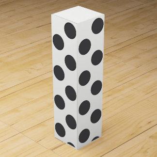 Checkered DarkGrey Dots Wine Gift Box