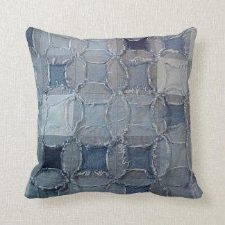 Checkered Denim Pillow