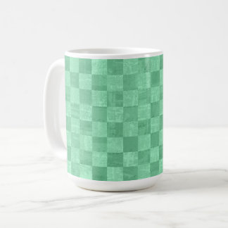 Checkered Emerald Green 15 oz Mug