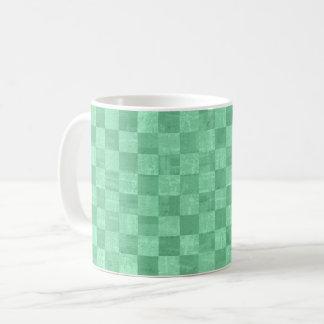 Checkered Emerald Green Mug