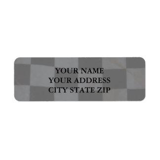 Checkered Flag Address Label