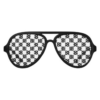 Checkered Flag Aviator Sunglasses