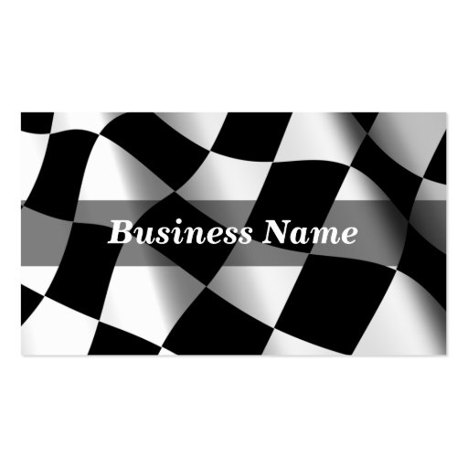 Checkered Flag Background Business Cards