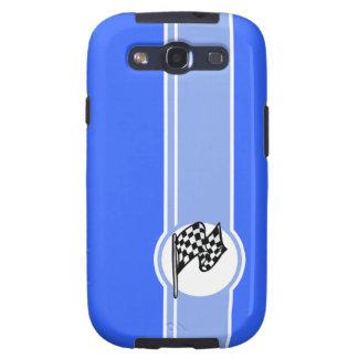 Checkered Flag Blue Samsung Galaxy SIII Cases