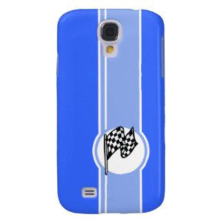 Checkered Flag Blue HTC Vivid Cases