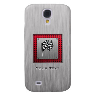 Checkered Flag; brushed aluminum look HTC Vivid / Raider 4G Case