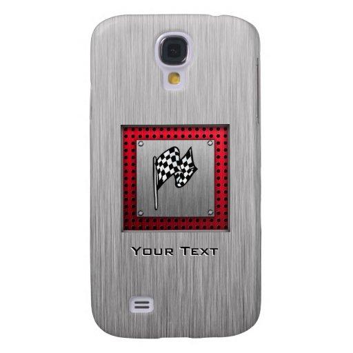 Checkered Flag; brushed aluminum look HTC Vivid / Raider 4G Case
