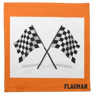"""Checkered Flag"" by Flagman Napkin"