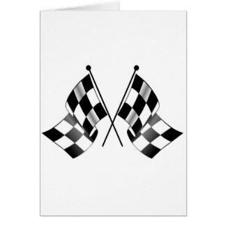checkered flag card