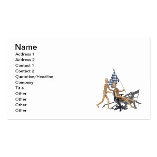 Checkered Flag Chair Races Business Cards