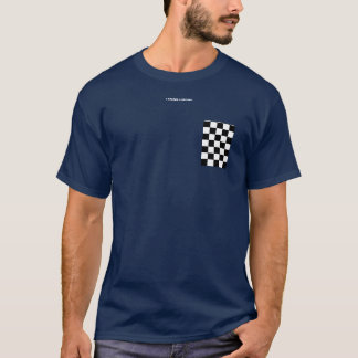 Checkered flag fake pocket T-Shirt