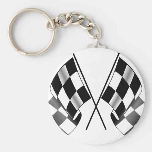 checkered flag key chains