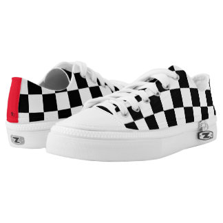 Checkered Flag Low-Top Sneakers