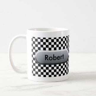 Checkered Flag Classic White Coffee Mug