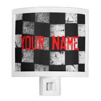 Checkered Flag Night Light