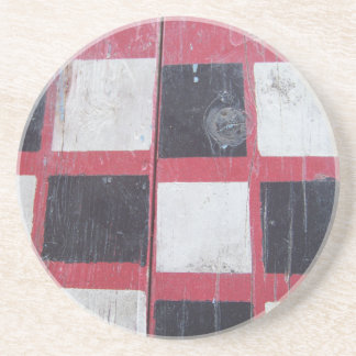 Checkered Flag Painted on Picnic Table Coaster