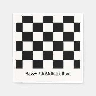 """""""Checkered Flag"""" Paper Napkins"""