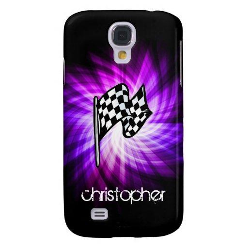Checkered Flag; purple HTC Vivid Cases