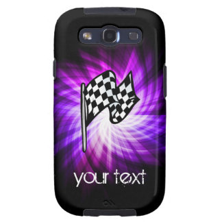 Checkered Flag purple Samsung Galaxy S3 Cases
