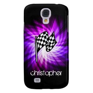Checkered Flag purple HTC Vivid Cases