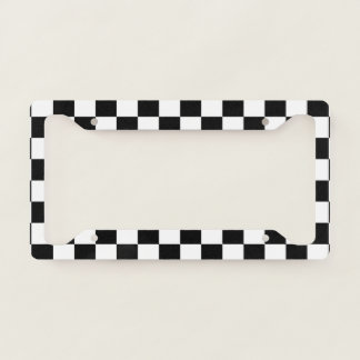 Checkered Flag Race Winner Pattern License Plate Frame