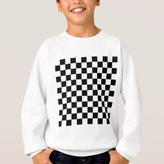 Checkered Flag Racing Design Chess Checkers Board Sweatshirt