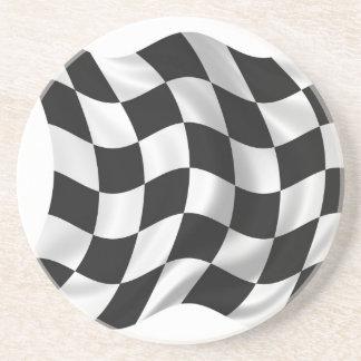 Checkered Flag - Racing Flag Beverage Coasters