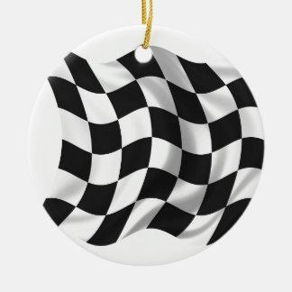 Checkered Flag - Racing Flag Christmas Tree Ornaments