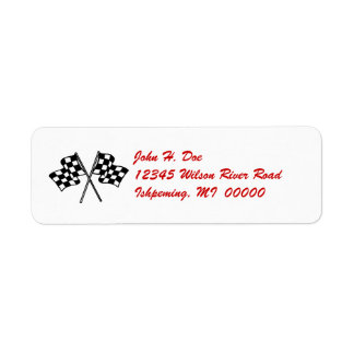 Checkered Flag Return LABEL ~ EZ2 Change Info Return Address Label