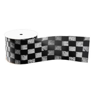 Checkered Flag Ribbon Grosgrain Ribbon