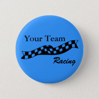 Checkered Flag Swoop Race Team Button