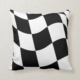 Checkered Flag Throw Pillows
