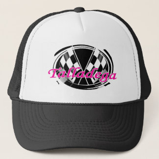 checkered flag trucker hat