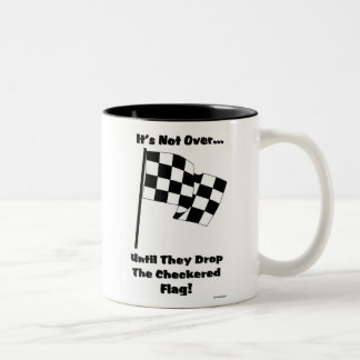checkered flag Two-Tone coffee mug