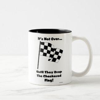 checkered flag Two-Tone mug