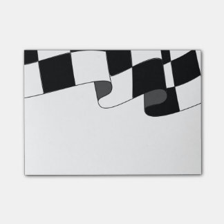 Checkered Flag Waving Race Fan Post-it® Notes